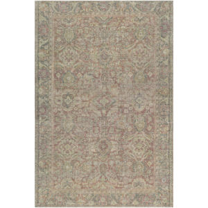 Unique Olive, Teal and Rust Rectangular: 7 Ft. 6 In. x 9 Ft. 6 In. Rug