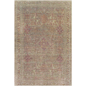 Unique Olive, Rust and Wheat Rectangular: 7 Ft. 6 In. x 9 Ft. 6 In. Rug