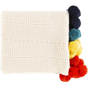 Vivi Cream and Multi-Color Throw