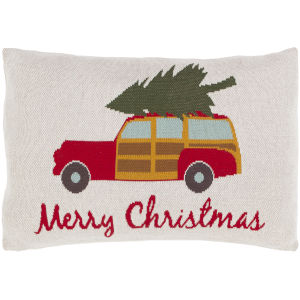 Very Merry Ivory 16-Inch Throw Pillow