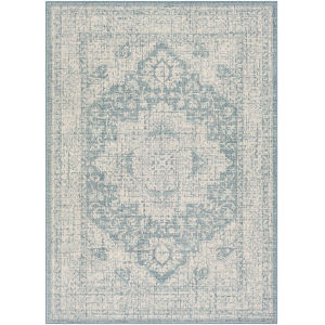 Veranda Aqua Rectangle 6 Ft. 7 In. x 9 Ft. Rugs