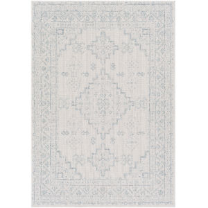 Veranda Ivory Blue Rectangle 6 Ft. 7 In. x 9 Ft. Rug