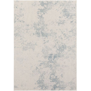 Veranda Dark Blue Modern Rectangle 6 Ft. 7 In. x 9 Ft. Rug