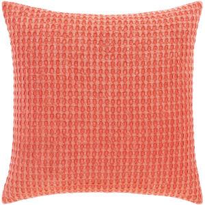 Waffle Bright Orange 20-Inch Throw Pillow