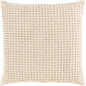 Waffle Wheat 22-Inch Throw Pillow