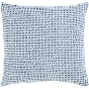 Waffle Denim 22-Inch Throw Pillow