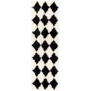 Winfield Black and Ivory Runner 2 Ft. 4 In. x 7 Ft. 10 In. Rugs
