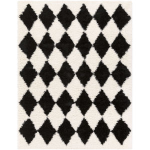 Winfield Black and Ivory Rectangle 7 Ft. 10 In. x 10 Ft. 2 In. Rugs