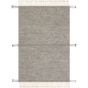 Zanafi Black Rectangle 5 Ft. x 7 Ft. 6 In. Rugs