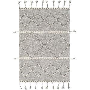 Zanafi Tassels Medium Gray Rectangle 8 Ft. x 10 Ft. Rugs