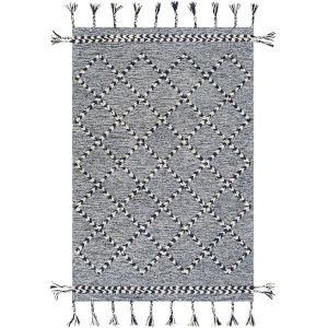 Zanafi Tassels Navy Rectangle 8 Ft. x 10 Ft. Rugs