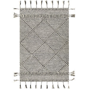Zanafi Tassels Black Rectangle 2 Ft. x 3 Ft. Rugs