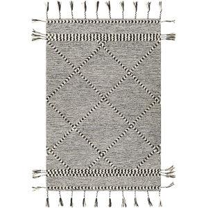 Zanafi Tassels Black Rectangle 8 Ft. 10 In. x 12 Ft. Rugs