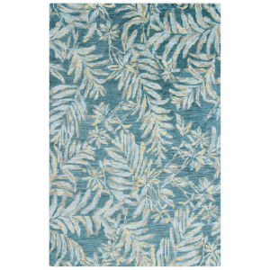 Breezy Teal Wool Rectangular: 3 Ft x 5 Ft Area Rug