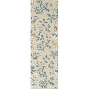 White Willow Slate Wool Runner: 2 Ft 6 In x 8 Ft
