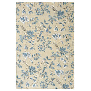 White Willow Slate Wool Rectangular: 3 Ft x 5 Ft Area Rug