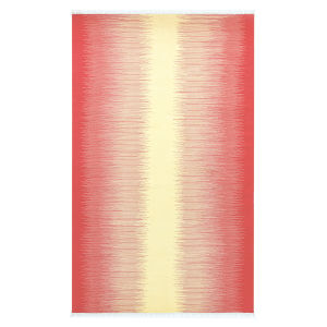 Daybreak Coral Polyester Rectangular: 5 Ft x 8 Ft Outdoor Area Rug
