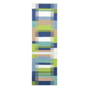 Kokomo Blue Polyester Runner: 2 Ft 6 In x 8 Ft