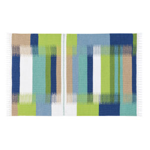 Kokomo Blue Polyester Rectangular: 2 Ft x 3 Ft Outdoor Area Rug