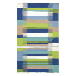 Kokomo Blue Polyester Rectangular: 5 Ft x 8 Ft Outdoor Area Rug