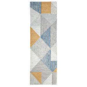 Griffin Blue Wool Runner: 2 Ft 6 In x 8 Ft