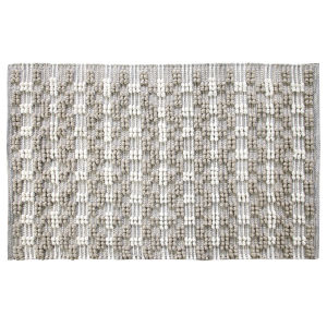 Pebbles Gray Polyester Rectangular: 2 Ft x 3 Ft Outdoor Area Rug
