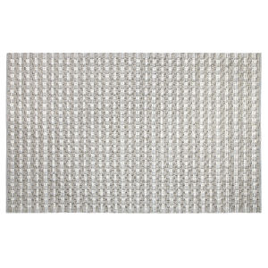 Pebbles Gray Polyester Rectangular: 3 Ft x 5 Ft Outdoor Area Rug