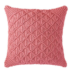 Clove Pillow Coral 22-Inch Polyester Throw Pillow