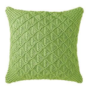 Clove Pillow Green 22-Inch Polyester Throw Pillow
