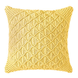 Clove Pillow Yellow 22-Inch Polyester Throw Pillow