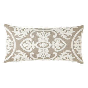 Lana Ivory 24-Inch Linen Throw Pillow