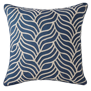 Bryce Navy 22-Inch Cotton Throw Pillow