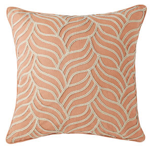 Bryce Terracotta 22-Inch Cotton Throw Pillow