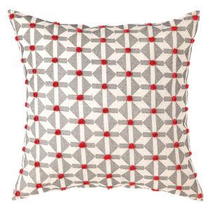 Xavier Natural 22-Inch Cotton Flax Throw Pillow