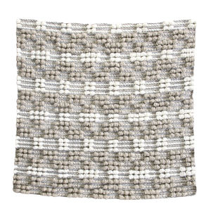 Pebbles Gray 22-Inch Polyester Throw Pillow