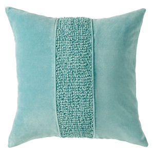 Topaz Lake 22-Inch Cotton Velvet Throw Pillow