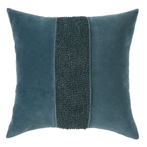 Topaz Navy 22-Inch Cotton Velvet Throw Pillow