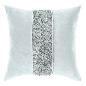 Topaz Pewter 22-Inch Cotton Velvet Throw Pillow