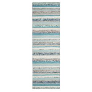 Fairfield Blue Wool Runner: 2 Ft 6 In x 8 Ft