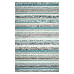 Fairfield Blue Wool Rectangular: 3 Ft x 5 Ft Area Rug