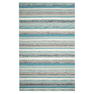 Fairfield Blue Wool Rectangular: 9 Ft x 13 Ft Area Rug