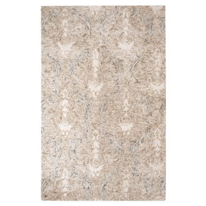 Carrera Damask Stone Rectangular: 3 Ft. x 5 Ft. Rug