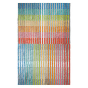 Chromatic Plaid Multicolor Rectangular: 2 Ft. x 3 Ft. Indoor/Outdoor Rug