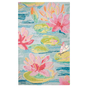 Water Lilies Multicolor Rectangular: 3 Ft. x 5 Ft. Rug
