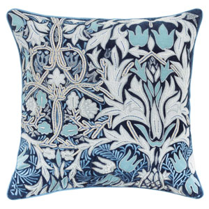 Eden Blue 18 In. Throw Pillow with Down Insert