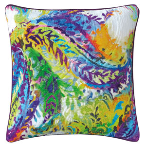 Galleria Multicolor 22 In. Throw Pillow with Down Insert