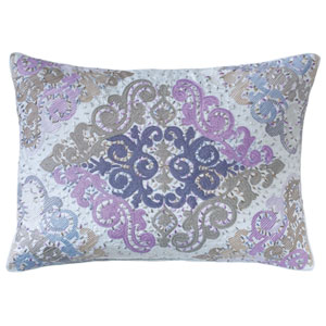 Juliette Blue 14 x 20 In. Throw Pillow with Down Insert
