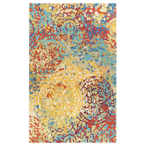 Melange Multicolor Rectangular: 3 Ft. x 5 Ft. Rug