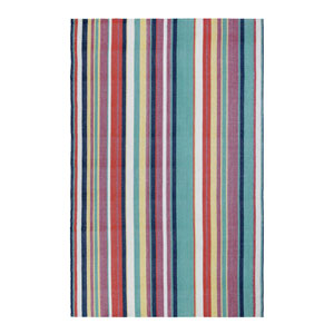 Canopy Stripe Multicolor Rectangular: 2 Ft. x 3 Ft. Indoor/Outdoor Rug