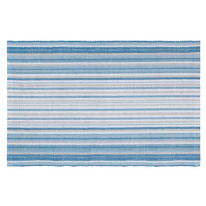 Cirrus Stripe Blue Rectangular: 2 Ft. x 3 Ft. Indoor/Outdoor Rug